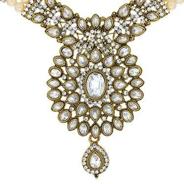 Spargz Brass Metal Necklace Set_Ains099