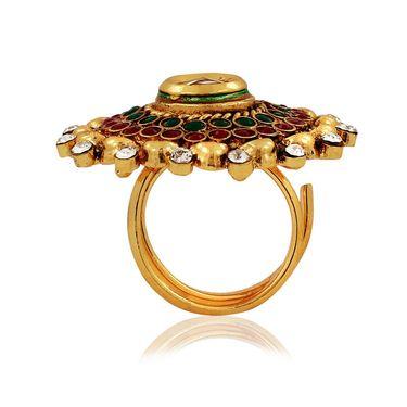 Spargz Alloy Metal Finger Ring_Aifr015