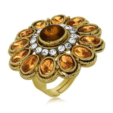Spargz Alloy Metal Finger Ring_Aifr045