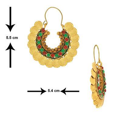 Spargz Brass Metal Earring_Aier308