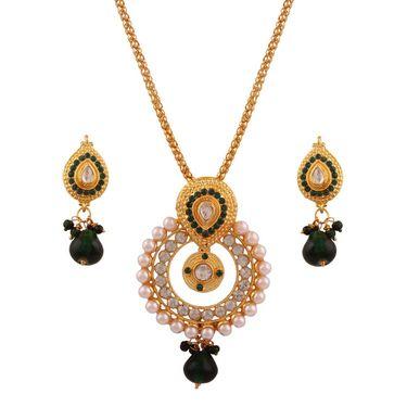 Variation Combo of 7 Gold Plated Necklace Set + 4 Pendant Set + 1 Gm Gold Plated Anklet_Varinp12