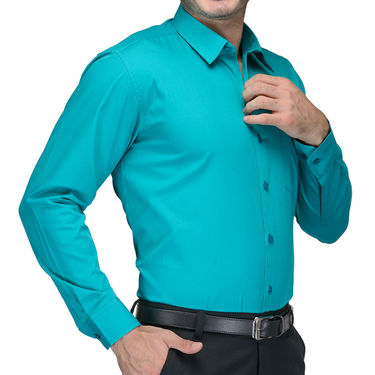 Being Fab Cotton Formal Shirt_Bfs07 - Sea Green