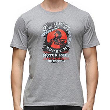 Effit Half Sleeves Round Neck Tshirt_Etscrn002 - Grey