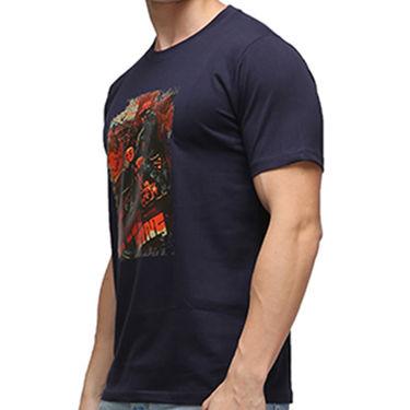 Effit Half Sleeves Round Neck Tshirt_Etscrn005 - Navy Blue