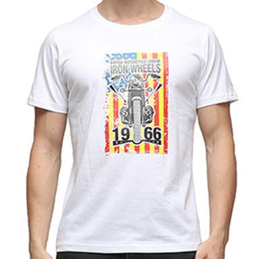 Effit Half Sleeves Round Neck Tshirt_Etscrn013 - White