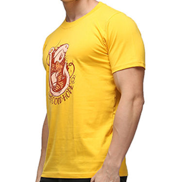 Effit Half Sleeves Round Neck Tshirt_Etscrnl009 - Yellow