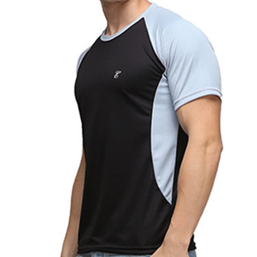 Effit Half Sleeves Round Neck Tshirt_Etsprn - Black
