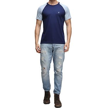 Effit Half Sleeves Round Neck Tshirt_Etsprnnvw - Navy