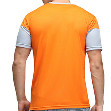 Effit Half Sleeves Round Neck Tshirt_Etsprnor - Orange