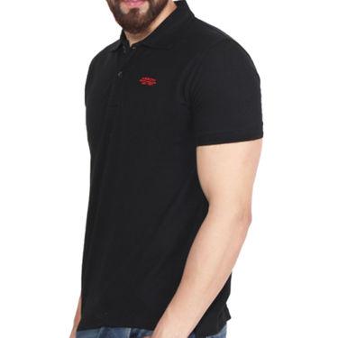 Branded Cotton Casual Tshirt_Arrow01 - Black