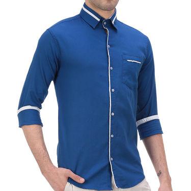 Plain Cotton Shirt_Gkchocoblu - Blue