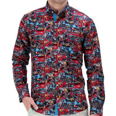 Printed Cotton Shirt_Gkdigir - Red