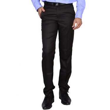 Plain Cotton Trousers_Gksuitingb - Black