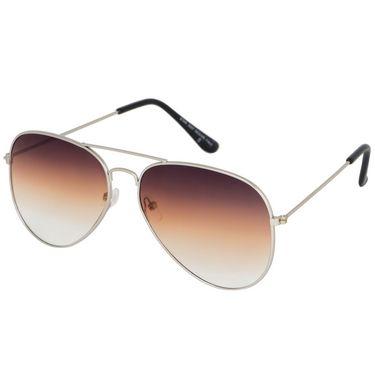 Alee Aviator Metal Unisex Sunglasses_Rs0216 - Brown