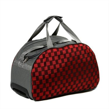 Urban Style Checkered Cabin Check In Trolley Bag - USTKTB