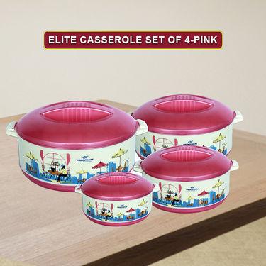 Princeware Elite Casserole Set Of 4-Pink_7033-4 -PK