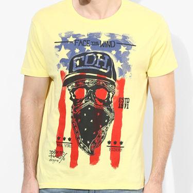 Branded Cotton Slim Fit Tshirt_Edhy04 - Yellow