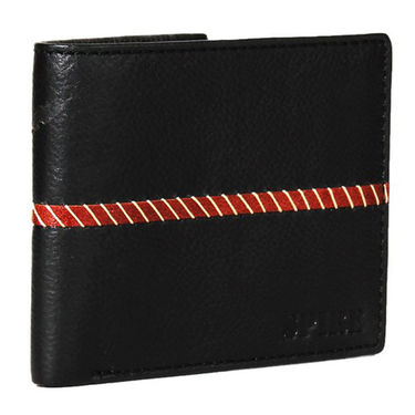 Spire Stylish Leather Wallet For Men_Smw114 - Black