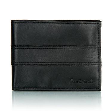 Fastrack Leather Wallets For Men_C0328lbk01 - Black