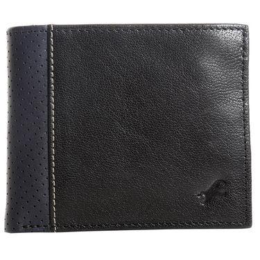 Fastrack Leather Wallets For Men_C0378lbk01 - Black