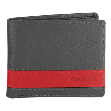 Fastrack Leather Wallets For Men_C0381lgy01 - Grey
