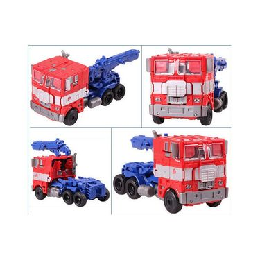 Kids convertible Robot into Truck Deformation Toy Blue