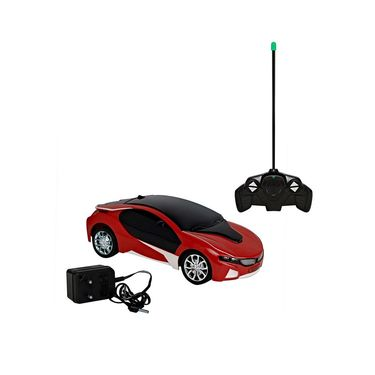 BMW i8 3D Remote Control Rechargeable Lightning Car Toy Red