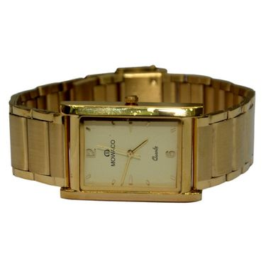 Branded Square Dial Analog Wrist Watch For Men_2305sm04 - Golden