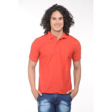Plain Comfort Fit Blended Cotton TShirt_Ptgdr - Red