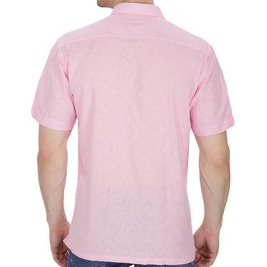 Fizzaro Plain Half Sleeves Stylish Shirt For Men_Fzls106 - Pink