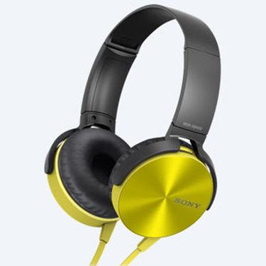 Sony MDR-XB450 On Ear Extra Bass(XB) Headphones (Yellow)