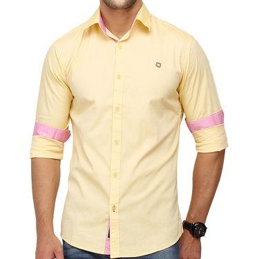 Crosscreek 100% Cotton Shirt For Men_1080307f - Yellow