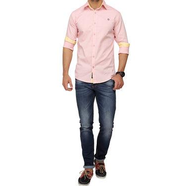 Crosscreek 100% Cotton Shirt For Men_1080308f - Pink