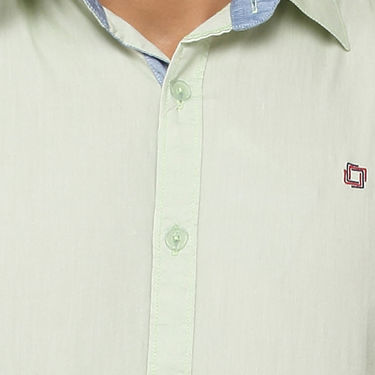 Crosscreek 100% Cotton Shirt For Men_1080309f - Light Green