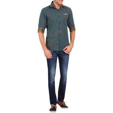 Crosscreek 100% Cotton Shirt For Men_1130303 - Aqua