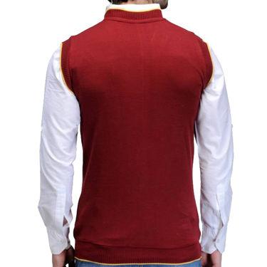 Pack of 3 Plain Sleeveless V Neck Sweaters For Men_Zs01