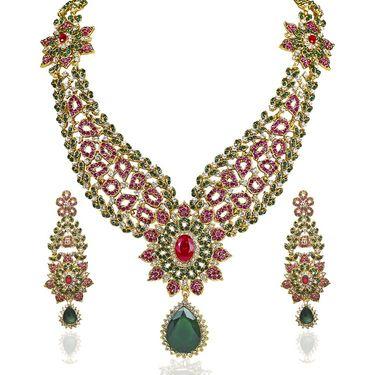 Kriaa Alloy Ethnic Necklace Set_2000118 - Multicolor
