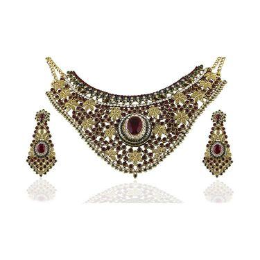 Kriaa Alloy Ethnic Necklace Set_2000314 - Multicolor
