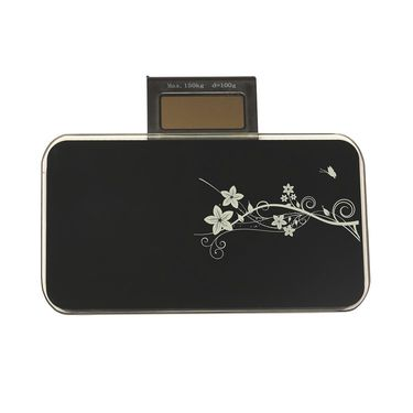 Portable Designer Weighing Scale with LCD Screen Black-A