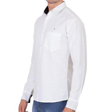 Branded Full Sleeves Cotton Shirt_R12kwht - White