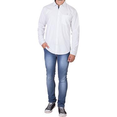 Branded Full Sleeves Cotton Shirt_R25kwht - White