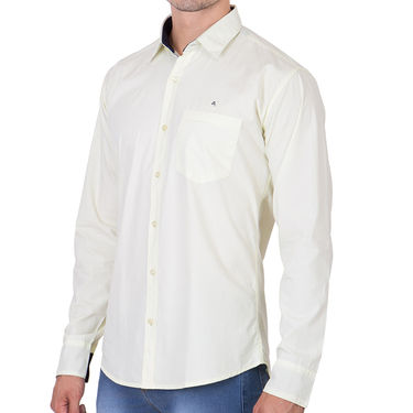 Branded Full Sleeves Cotton Shirt_R25kylw - White