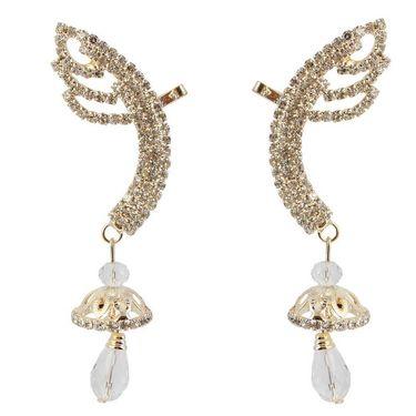 Kriaa Austrian Stone Jhumki Style Drop Ear Cuff _1303003