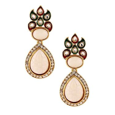 Kriaa Meenakari Kundan Earrings _1303739