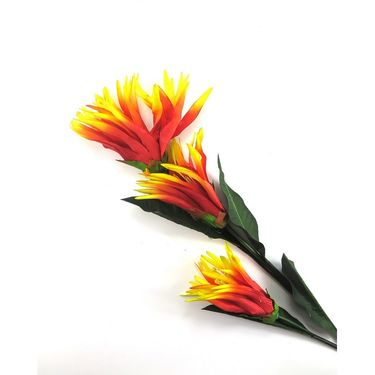 Importwala Three headed Artificial flower stick-1401-0307