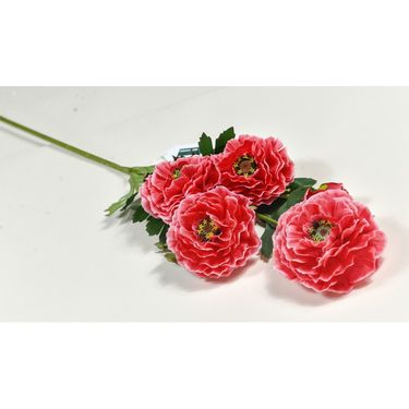 Importwala Scenic Ponceau Artificial Flower Bunch - pink-1401-236