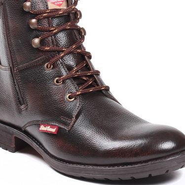 Branded Leather Boot 1403-Brown