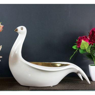 Importwala Ceramic Oval Platter GoldenCeramic Oval Platter Golden-1405-1518