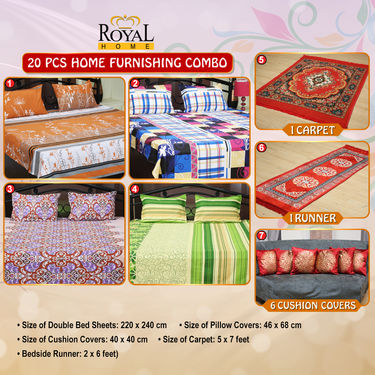 20 Pcs Home Furnishing Combo
