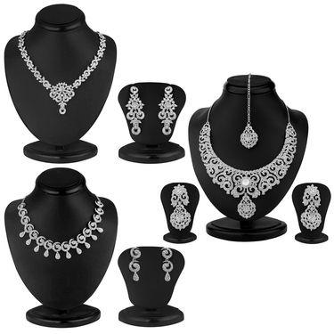 Combo of 3 Sukkhi Austrian Diamond Necklace Sets_220CB4500